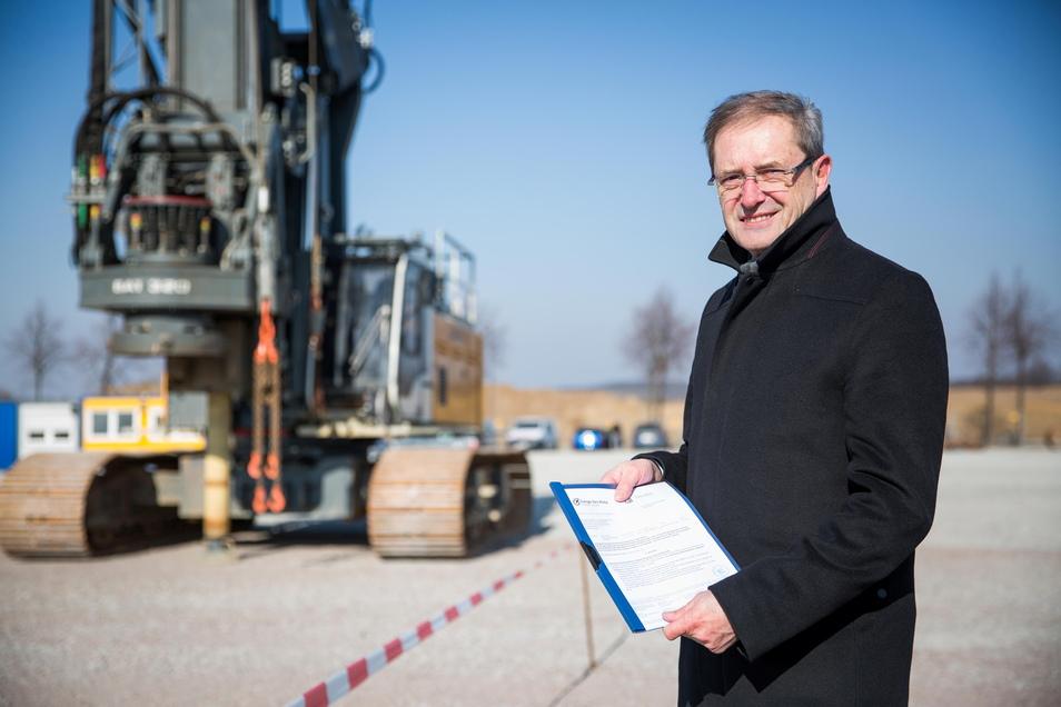 Otto Graf, Standortleiter von Bosch in Dresden.