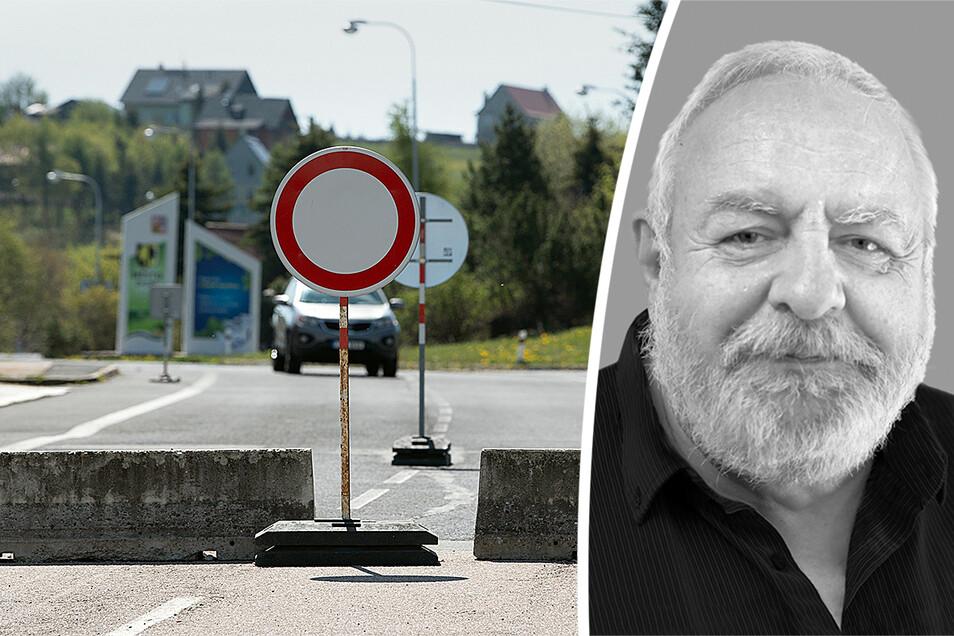 In Zinnwald ist für Autofahrer in Richtung Tschechien Schluss.