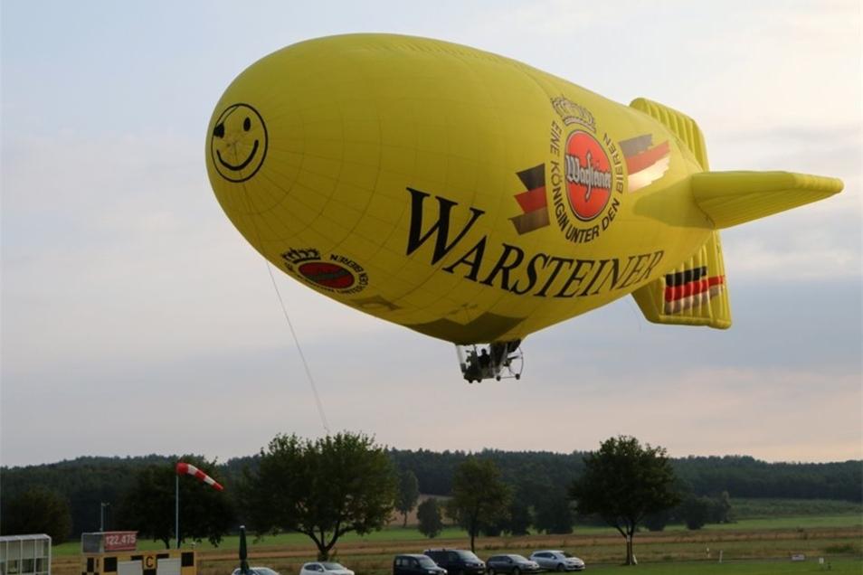 Die Ballon & Luftschifffahrt Sachsen aus Gersdorf ist stolz auf ihr neues Luftschiff.