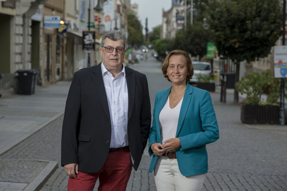 Prominente Wahlhelferin: Beatrix von Storch ist eine der bekanntesten Gesichter der Bundes-AfD. Am Dienstag kam sie zur Unterstützung des Wahlkampfs von Carsten Hütter nach Riesa – zu einem Auftritt im Sachsenhof.