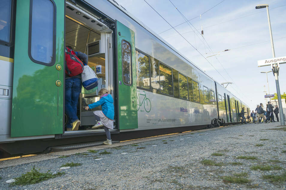 Ein Zug der Mitteldeutschen Regiobahn (MRB).