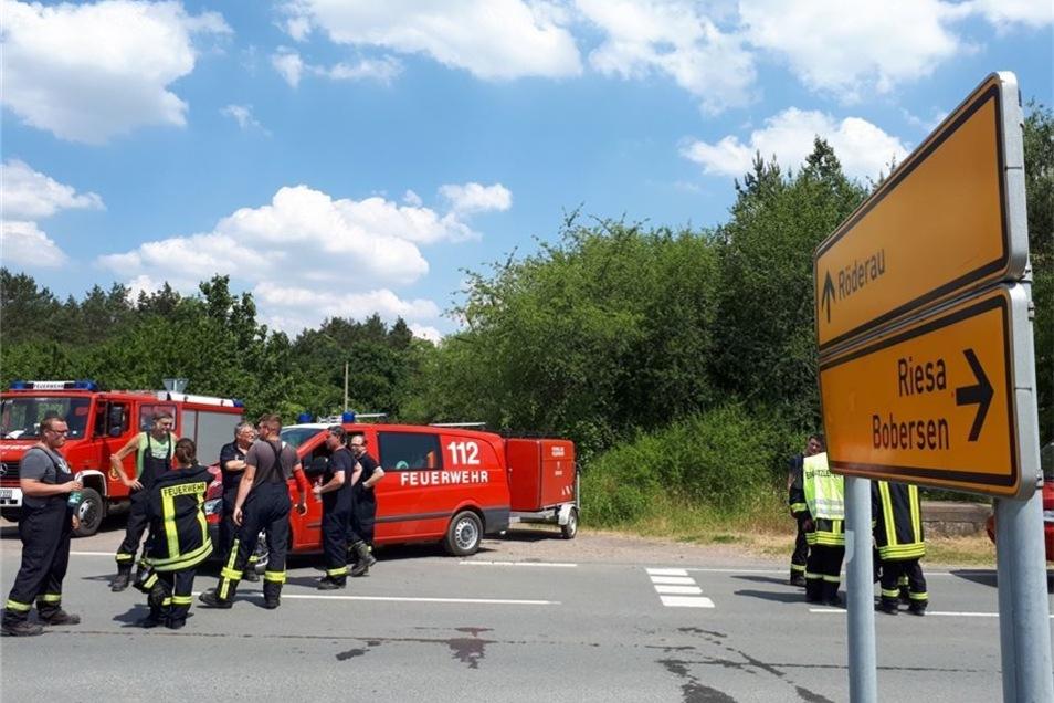 Der jüngste Einsatz fand Dienstagmittag an der Zufahrt zum früheren Waldbad Röderau statt.
