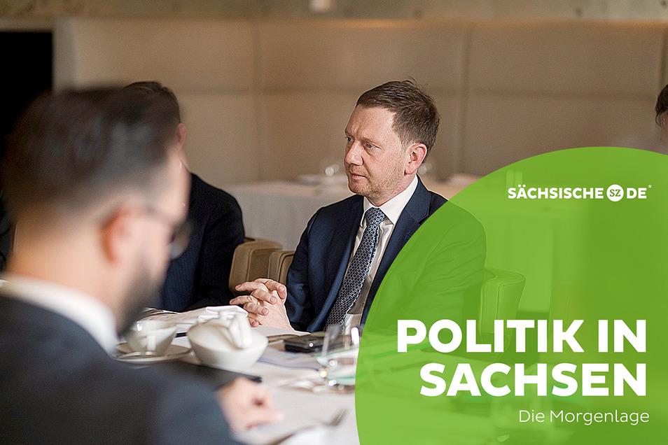 Sachsens Ministerpräsident Michael Kretschmer ist derzeit auf Dienstreise in Russland.