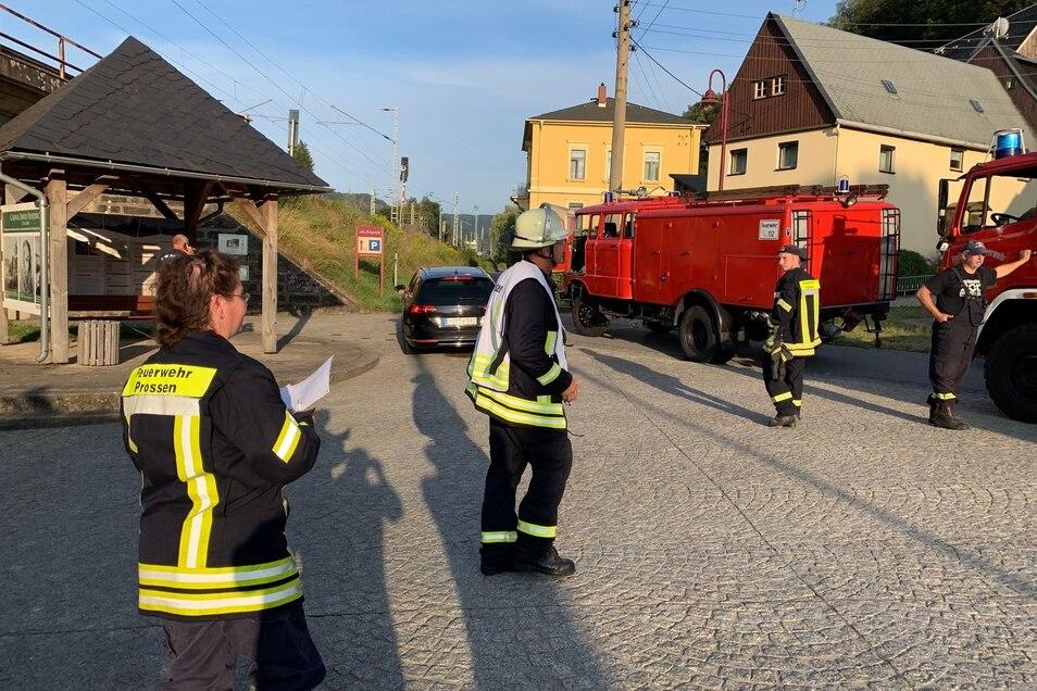 Am Bahnhof Krippen rückten knapp 200 Kameraden an.