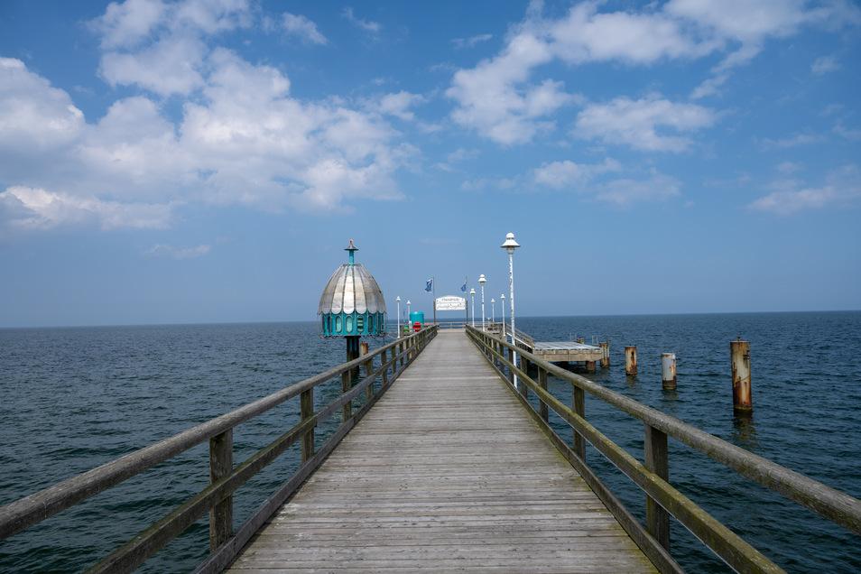 Die Seebrücke in Zinnowitz auf Usedom. Hier ist der Fotounfall passiert.
