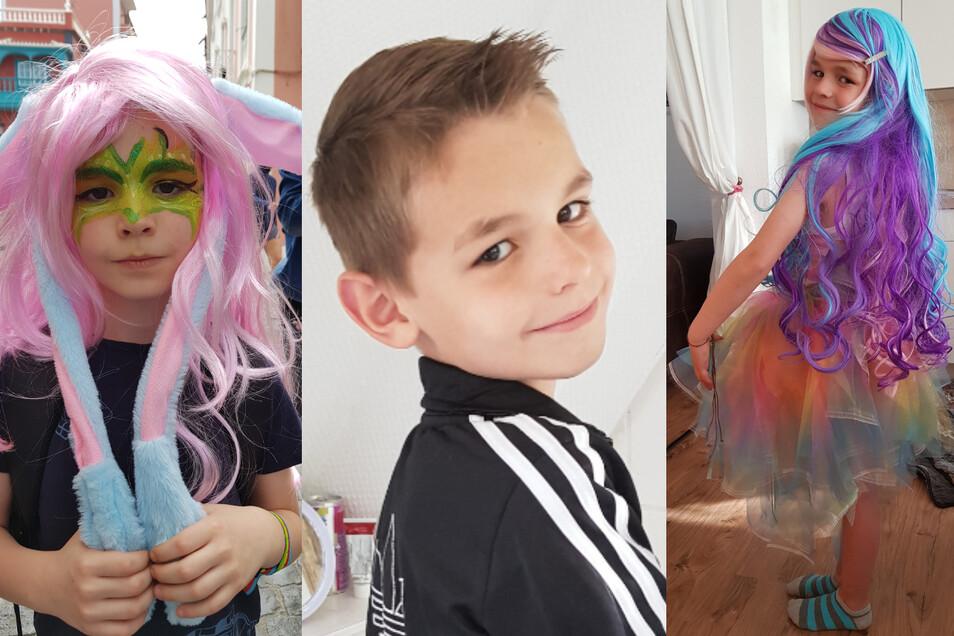 Schon seit dem Kindergarten setzt sich Luke leidenschaftlich gern Perücken auf den Kopf.