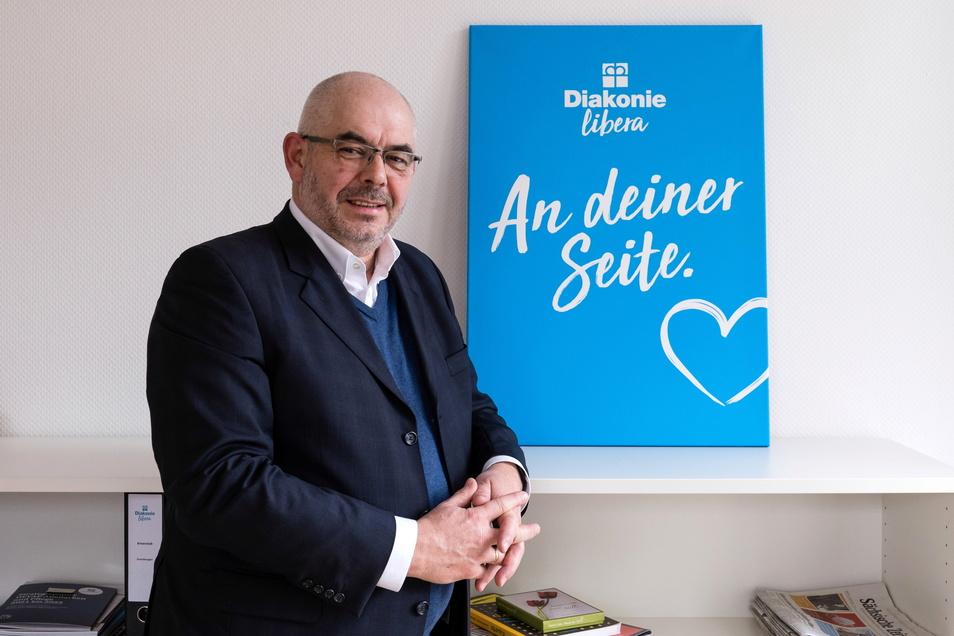 André Maywald ist Vorstand der Stiftung Diakonie Libera, die ihren Sitz in Görlitz hat.