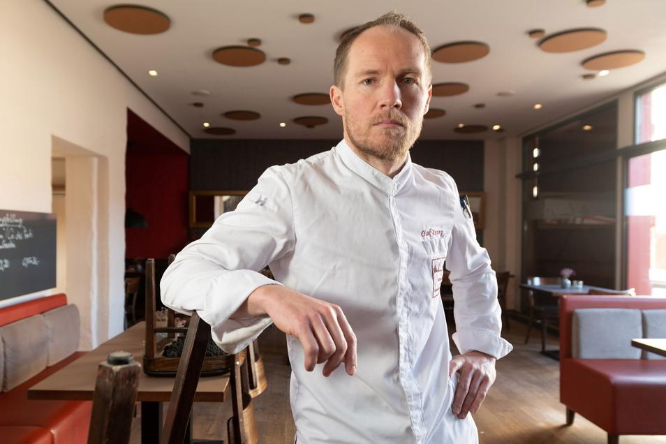 Schmidts Restaurant in Dresden hat mit den Lockdown-Folgen zu kämpfen, berichtet Inhaber Olaf Kranz.