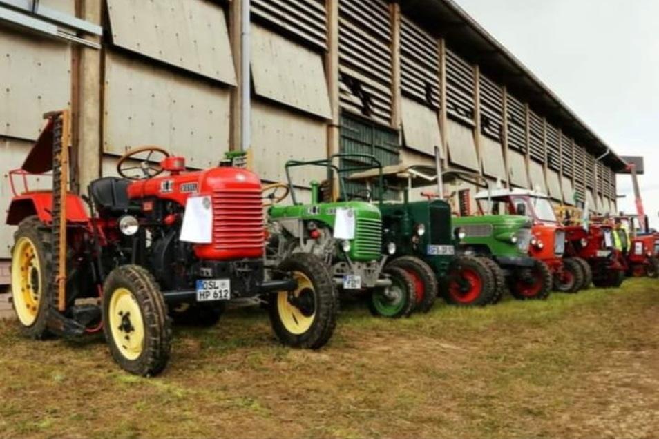 Ein Stelldichein der Landwirtschaftsfahrzeuge ist das achte Traktortreffen in Oelsnitz.