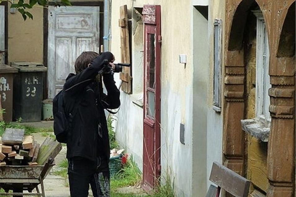 Auch Details wie zum Beispiel ein historischer Türstock wurden im Bild festgehalten und dokumentiert.