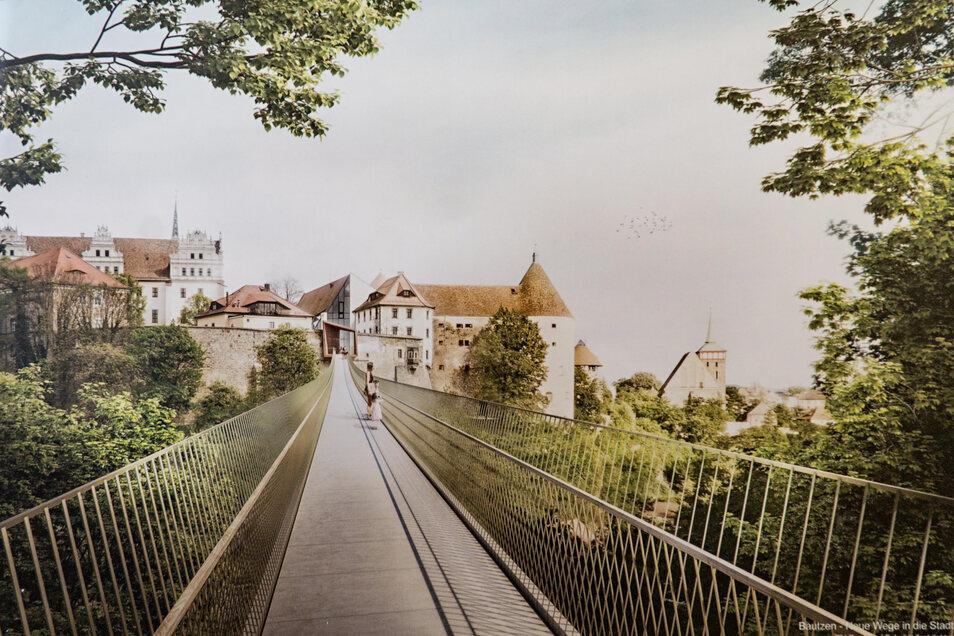 Vor zwei Jahren wurde das Projekt einer Brücke zwischen Schlieben-Parkplatz und Ortenburg vorgestellt.