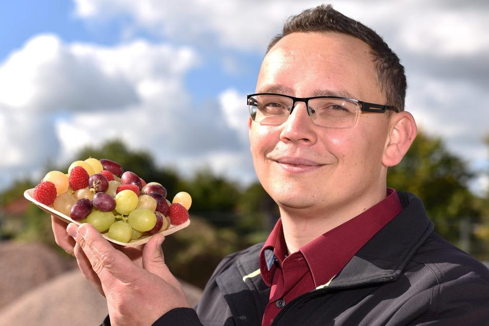 Er liebt Zahlen und Lebensmittel. Der Wirtschaftsmathematiker Tony Clausnitzer wird den neuen Edeka in Dippoldiswalde führen.