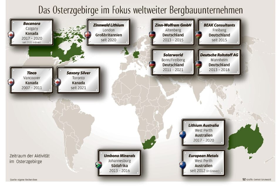 Das neue Berggeschrei hat schon Bergbaufirmen aus aller Welt ins Osterzgebirge gelockt.