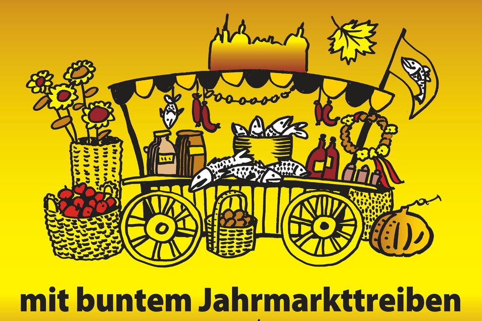 Das Plakat für den Markt Ende Oktober in Moritzburg ist fertig.