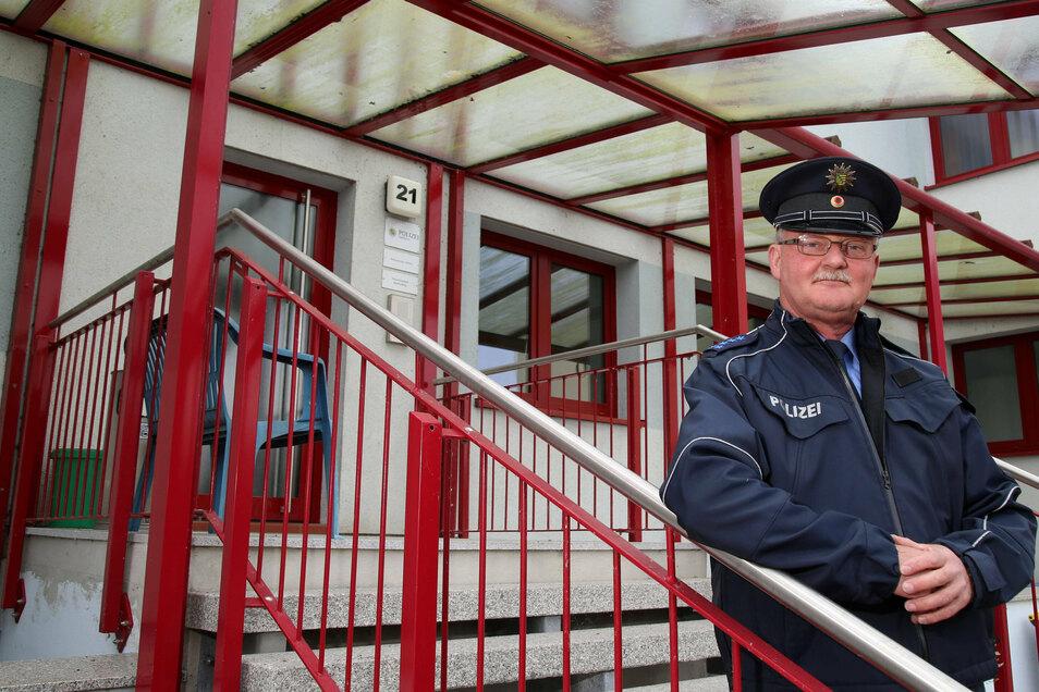 Am Polizeistandort in der Südstraße hält Andreas Stange seine Sprechtage ab: Dienstag und Donnerstag können die Rothenburger hier ihre Probleme schildern.