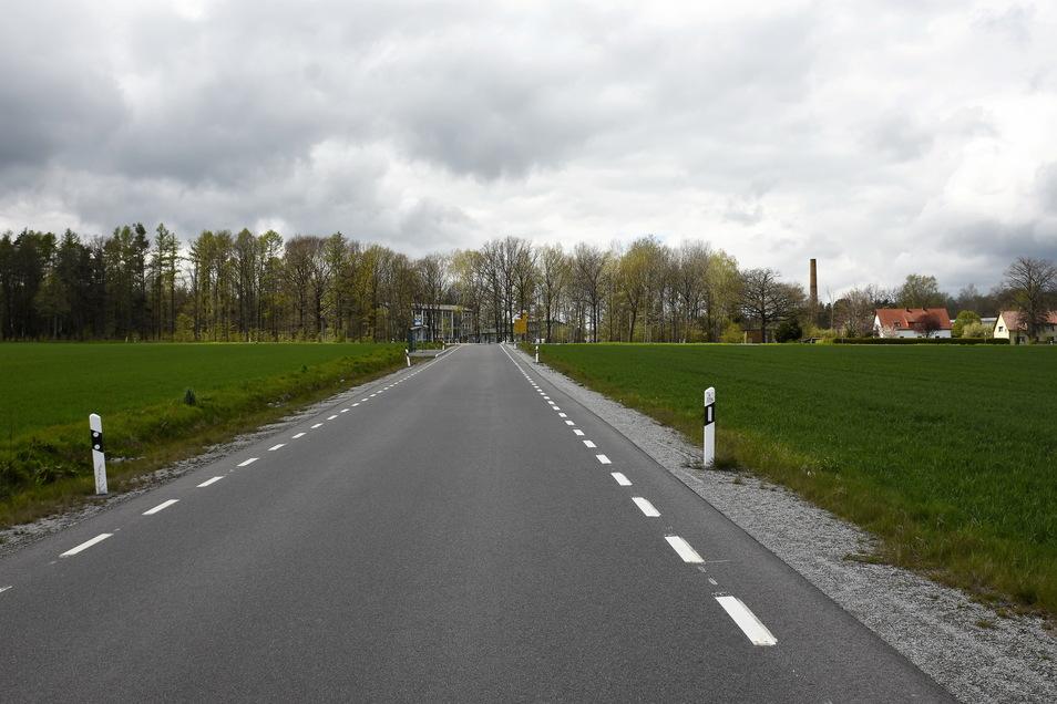 So sieht die Kreisstraße zwischen Brösang und Seitschen aktuell aus - ohne Bäume am Straßenrand. Sie wurden beim Ausbau beseitigt.