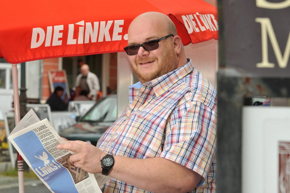 Mirko Schultze ist Kreisvorsitzender und Landtagsabgeordneter der Partei Die Linke.