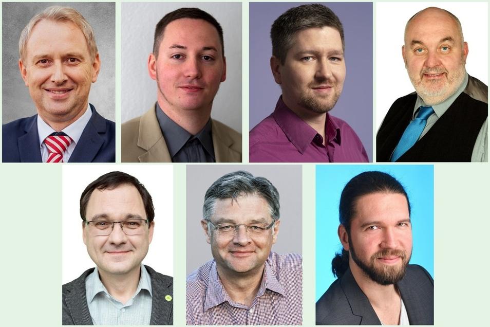 Die Landtagskandidaten im Wahlkreis 54.