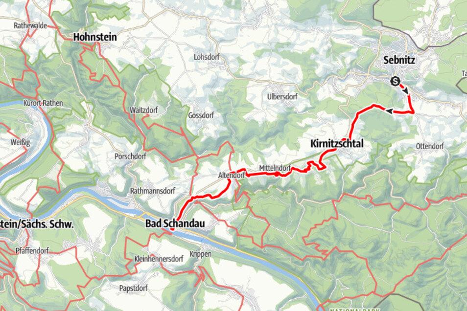 Tour 1: Panoramaweg von Sebnitz bis ins Elbtal.