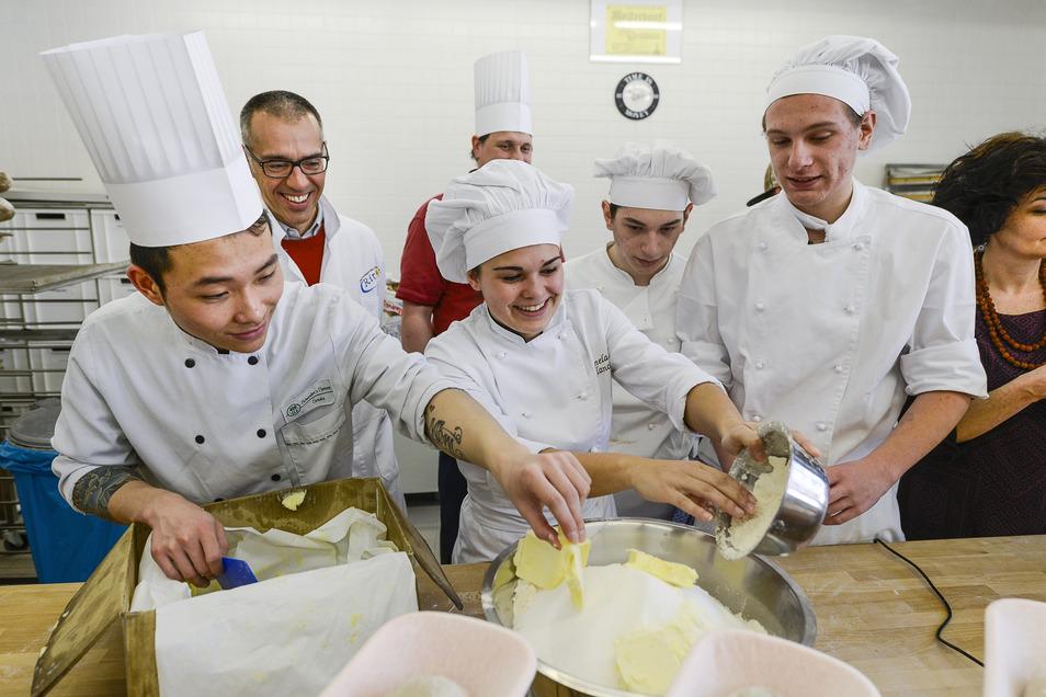 Solche Bilder wie dieses von 2015 sind derzeit nicht machbar: Es ist bei einem Schüleraustausch entstanden. Damals waren italienische Bäcker zu Gast in Görlitz.