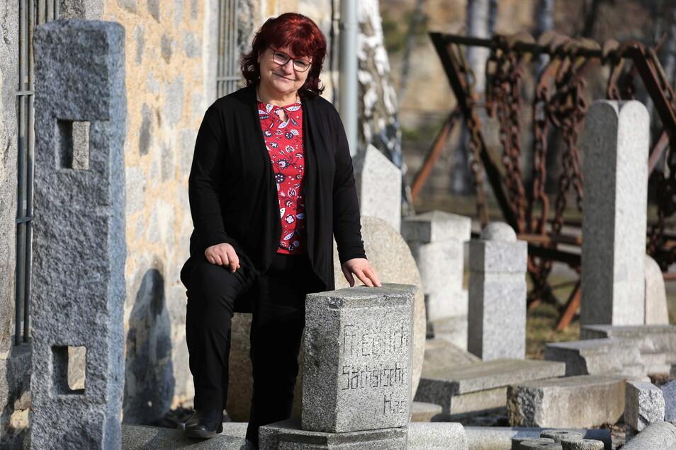 Marion Junge ist die Vorsitzende des Fördervereines Schauanlage und Museum der Granitindustrie in Häslich. Sie hofft auf neue Mitstreiter.
