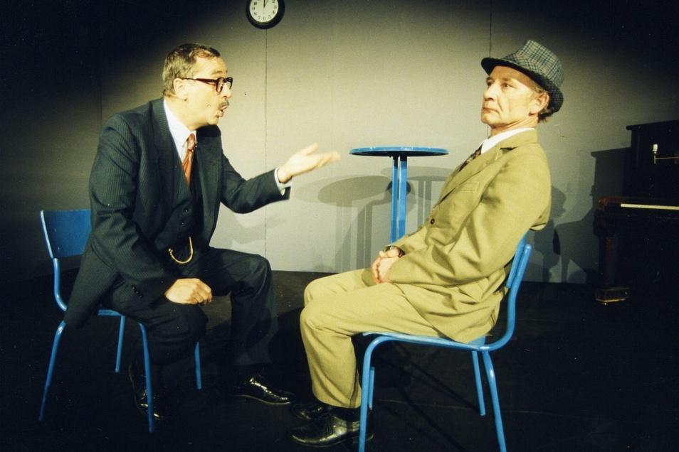 """Über 50 Mal wurde das Stück """"Aber, Herr Preil"""" gespielt - mit Detlef Lux als Rolf Herricht (neben Wolfgang Adam als Hans-Joachim Preil)."""