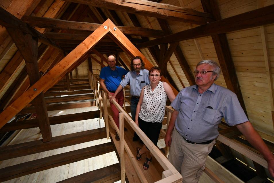 Unlängst abgeschlossen: die Sanierung der Kirche in Rückersdorf.