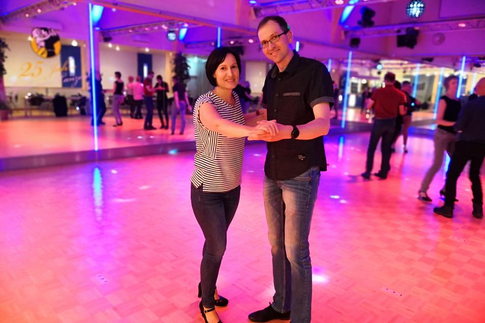 Erster Tanz nach zehn Wochen Pause für Raphael Preißler und Stephanie Rohne.