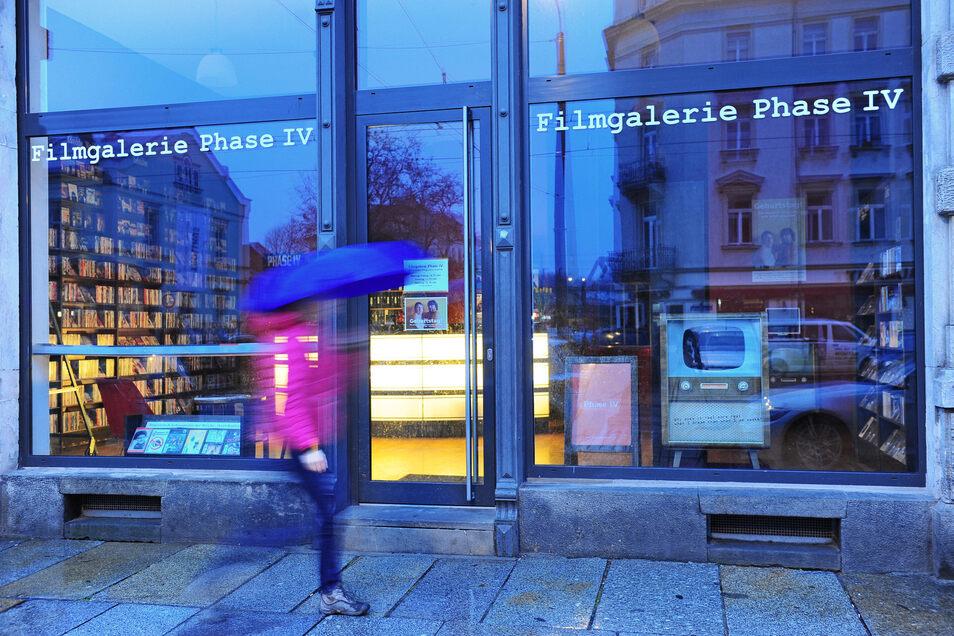 Sie gibt es noch: Die  Phase IV in der Dresdner Neustadt setzt vor allem auf Filme abseits des Massengeschmacks.