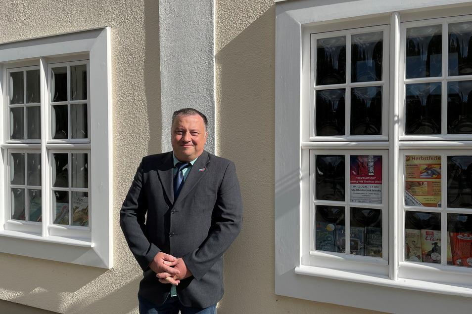 Jens Hoffmann ist Kandidat der AfD und will den Schwung seiner Partei von der Bundestagswahl auch für die OB-Wahl nutzen.