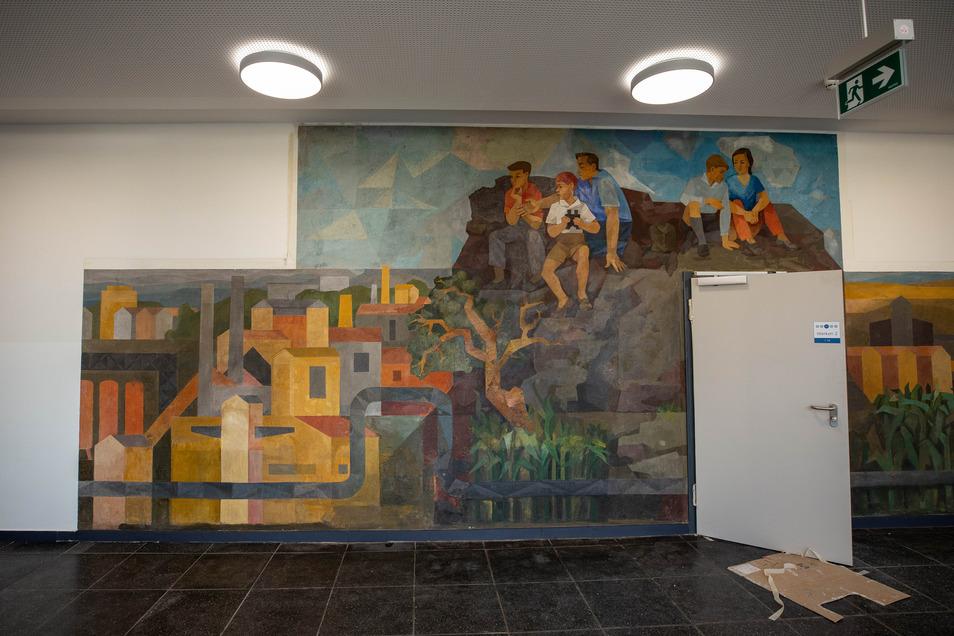 Historisches Zeugnis. Des Wandbildes von 1964 nahm sich ein Restaurator an.