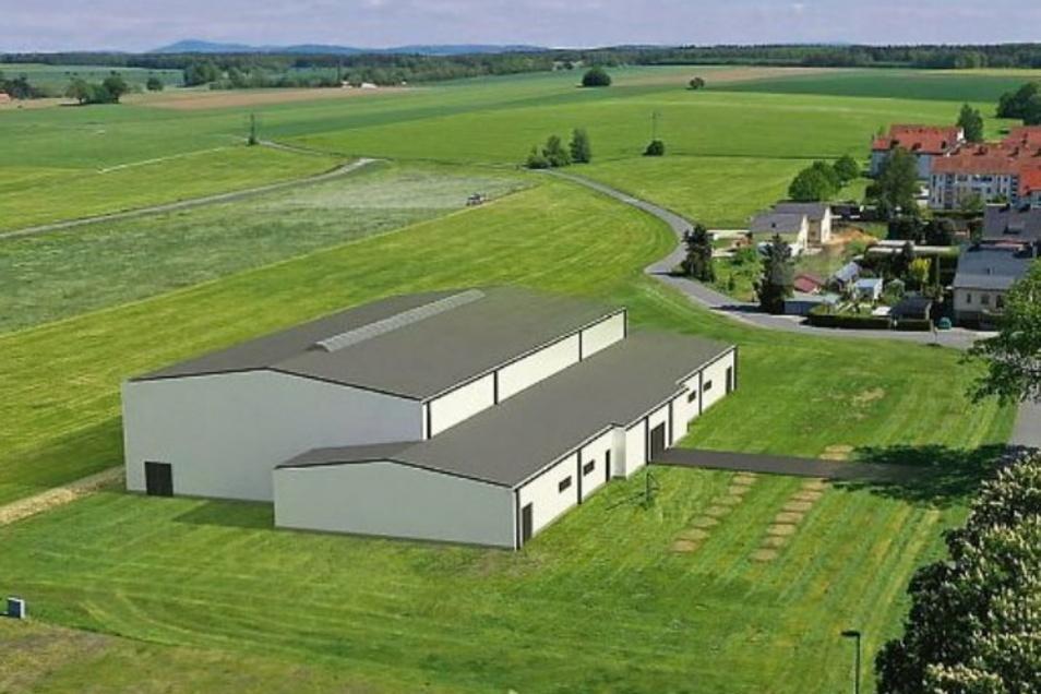 So sollte die neue Sporthalle in Großröhrsdorf aussehen. Jetzt wird daraus eine Mehrzweckhalle.