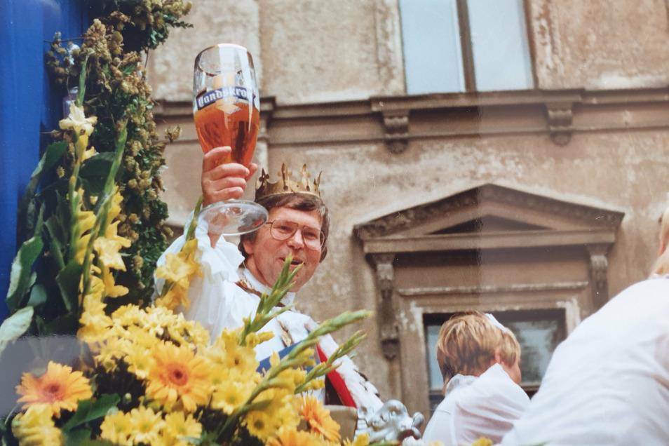 1994 war Bernd Skrzypczak sächsischer Bierkönig.