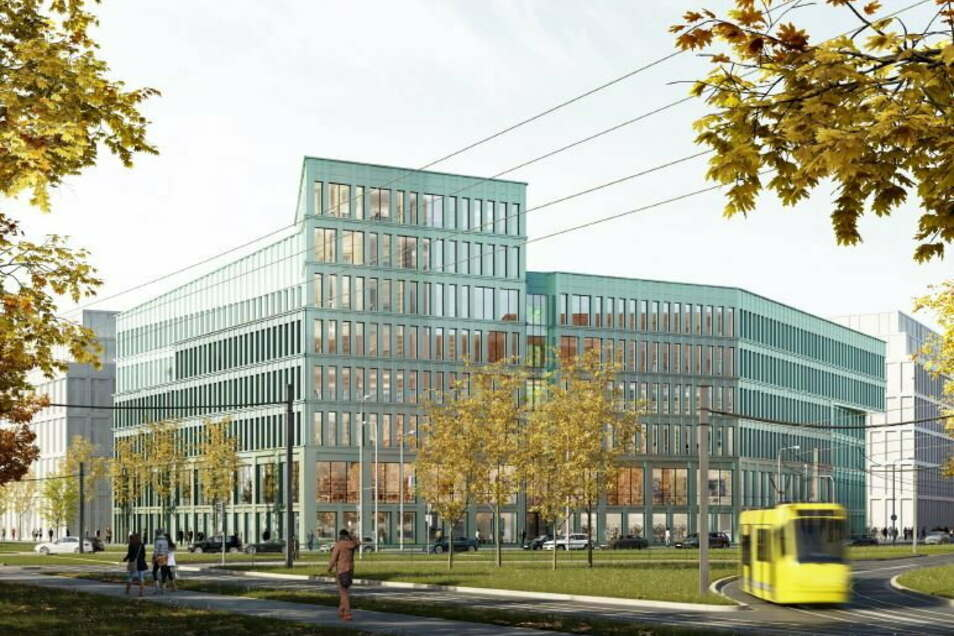 So sieht einer der beiden Vorschläge für die Gestaltung des neuen Verwaltungszentrums aus.