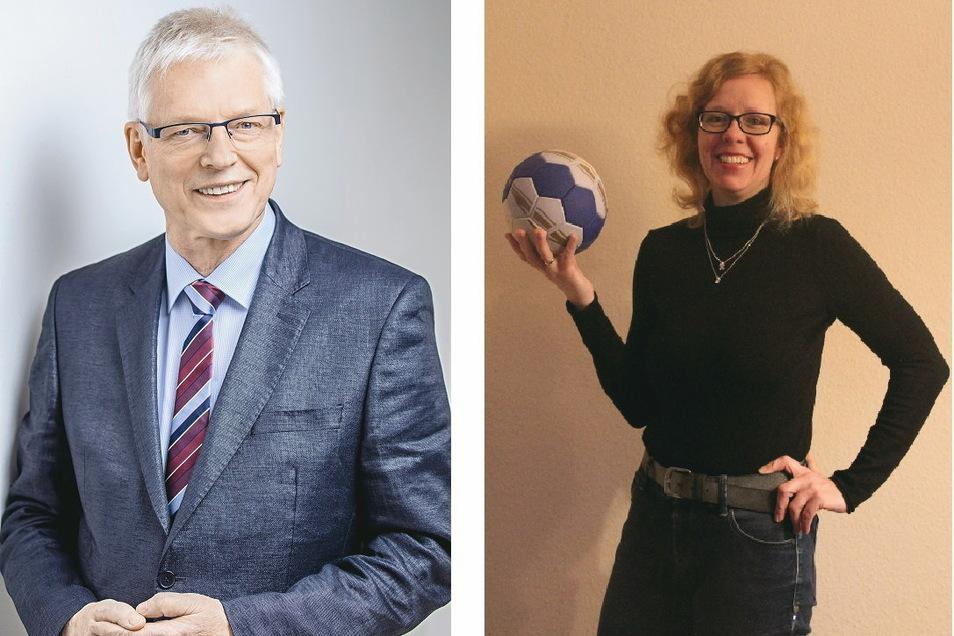 """Präsidentin Elisabeth Puschmann und Vizepräsident Thomas Birnstein wollen die """"Görls Görlitz"""" gemeinsam mit vielen Mitwirkenden bis in die 2. Bundesliga führen."""