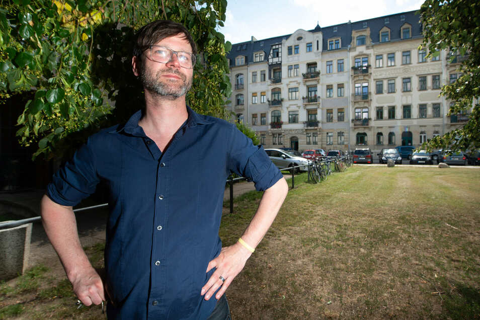 Torsten Brockhaus ist einer der Bewohner, die ihre Häuser Bundschuhstraße 5 und 7 gekauft haben. Als Architekt hat er die Sanierung geleitet.