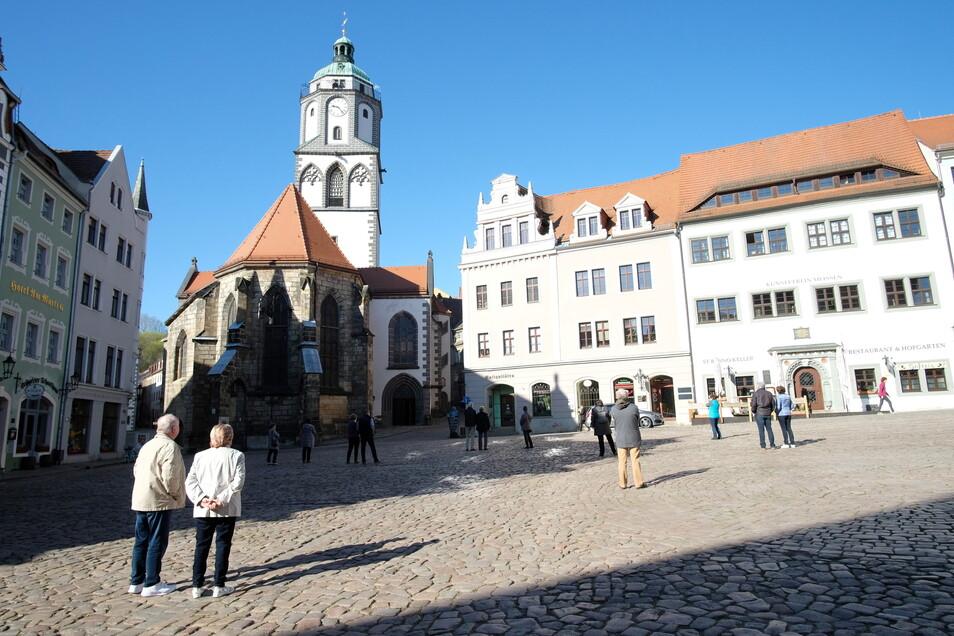 Auf der Straße An der Frauenkirche finden in den nächsten drei Wochen Bauarbeiten statt.