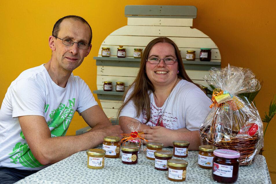 Mit Süßem zum Erfolg: Stephan und Katrin Goldbach machen Brotaustriche und Grütze.