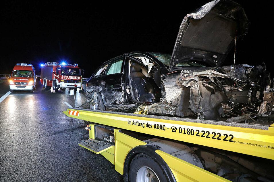 Gleich mehrere Unfälle mit Schwerverletzten  ereigneten sich am Sonnabend auf der A 4.
