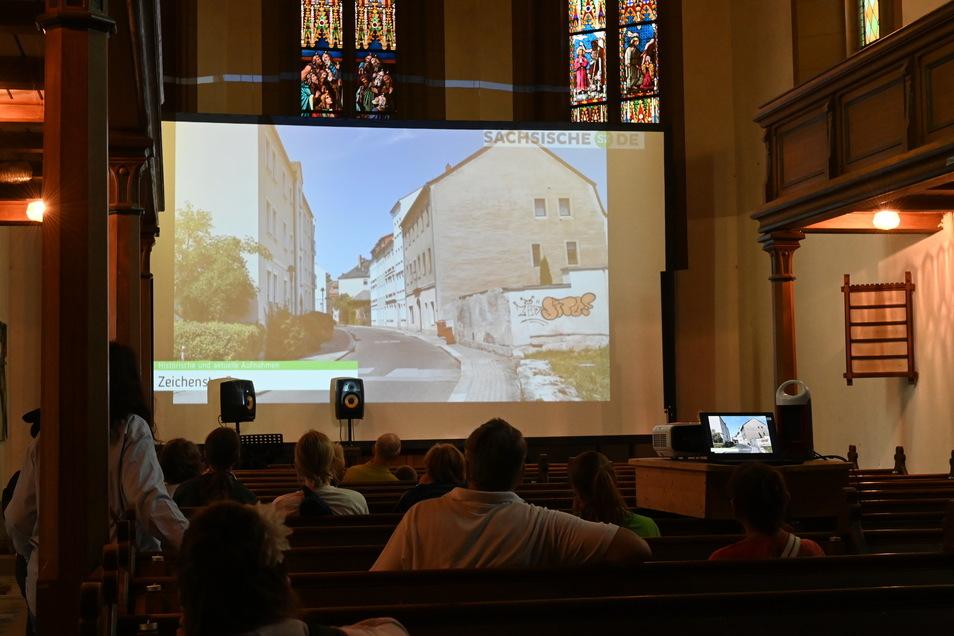 Die SZ beteiligte sich an Ring on Feier mit einer Präsentation über die Entwicklung der Zittauer Innenstadt in der Weberkirche.