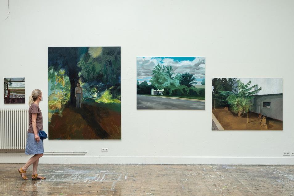 Auf Natur und Architektur blickt man in den Gemälden von Yunkyunk Kim