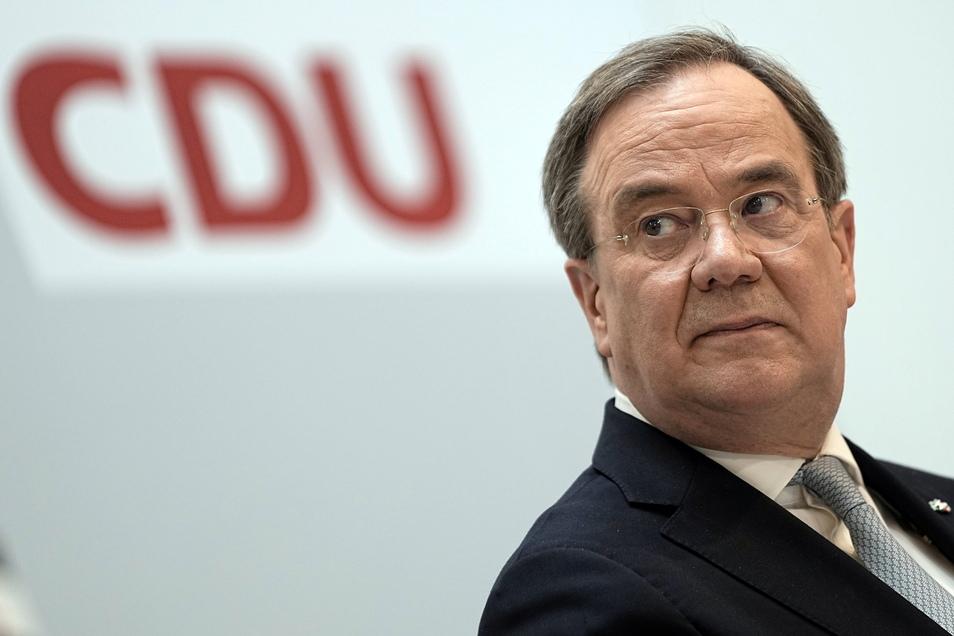 Blickte nach der Ausrufung von Annalena Baerbock skeptisch, versprach ihr aber einen fairen Wahlkampf. CDU-Chef Armin Laschet.