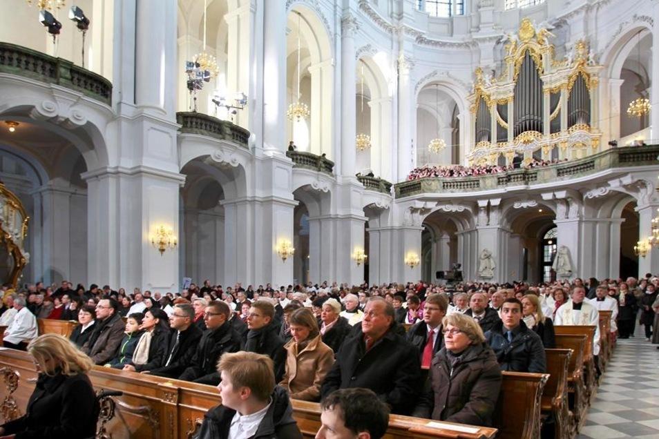 Die Kathedrale war voll besetzt.