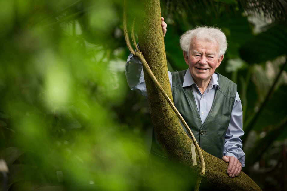 Rudolf Schröder war lange Technischer Leiter des Botanischen Gartens.