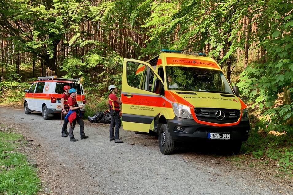 Die Bergwacht musste am Donnerstag zu zwei Einsätzen ausrücken.