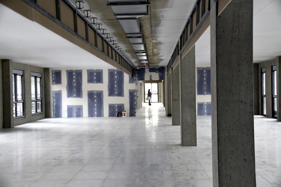 Ein Blick in die künftigen Büroräume, die flexibel abgetrennt werden können.
