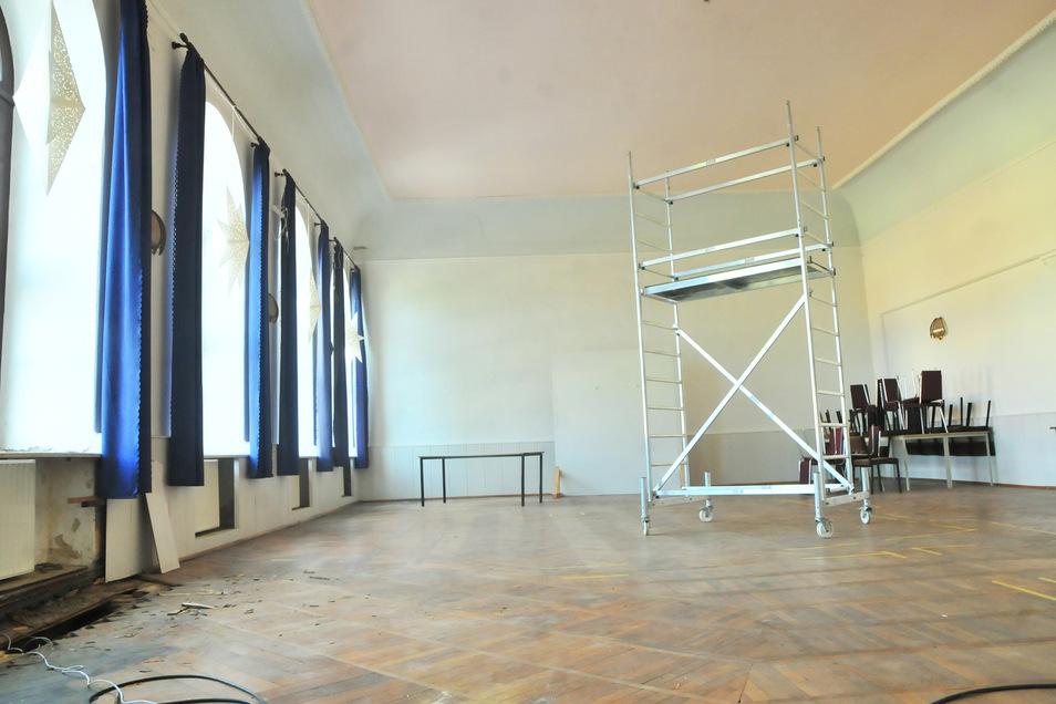 Platz für einen Traum: In dem ehemaligen Saal soll nun ein Gesundheitsstudio entstehen.