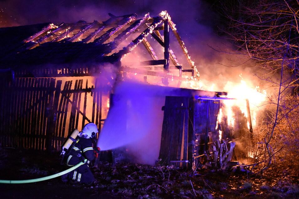 Im März mussten die Döbelner Feuerwehrleute zu einem Feuer an der Ziegelstraße ausrücken.