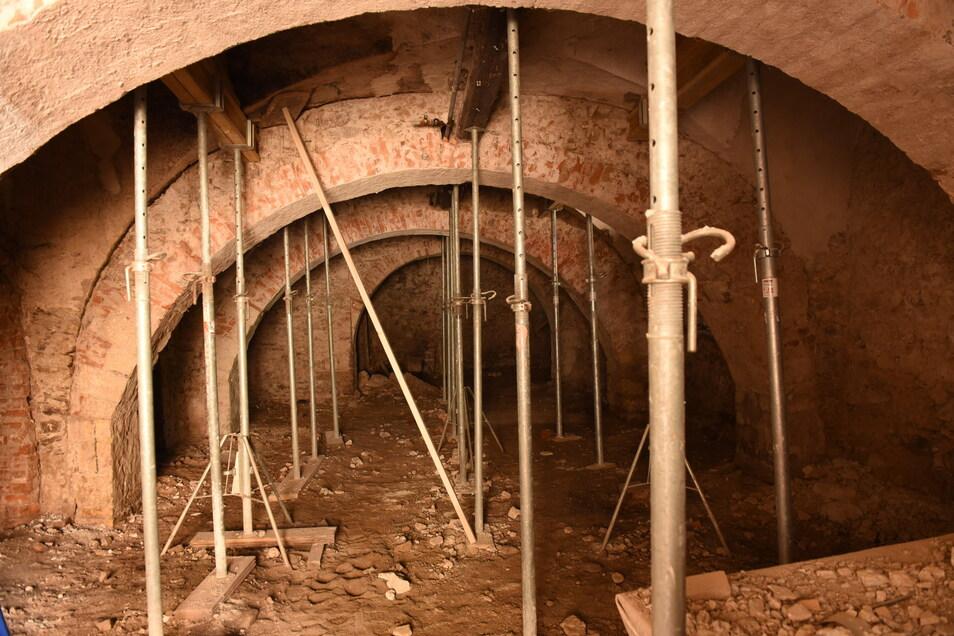 So sah der Gewölbekeller vor der Sanierung aus.