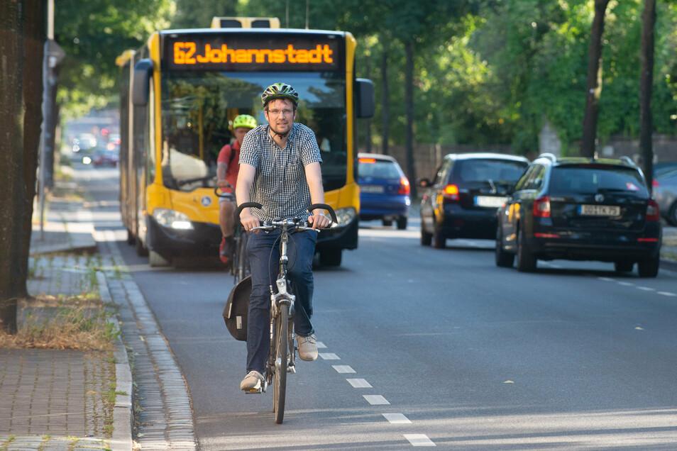 Eine Verkehrsuntersuchung soll Radfahrern das Fahren im Berufsverkehr erleichtern.